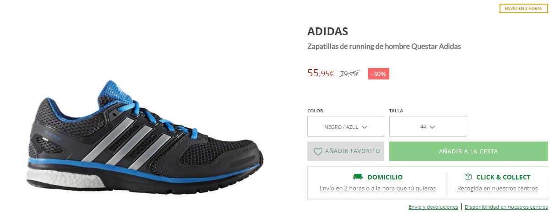 Zapatillas de running de hombre Questar Adidas