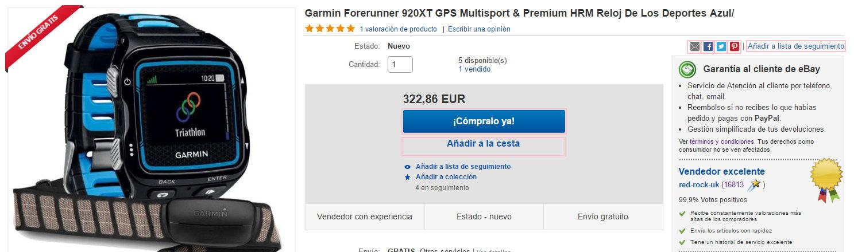 Ofertas Garmin Forerunner 920XT