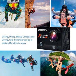 Campark®-ACT74-4k-Wifi-Ultra-HD-Resistente-al-agua-Cámara-de-Acción-Deportiva