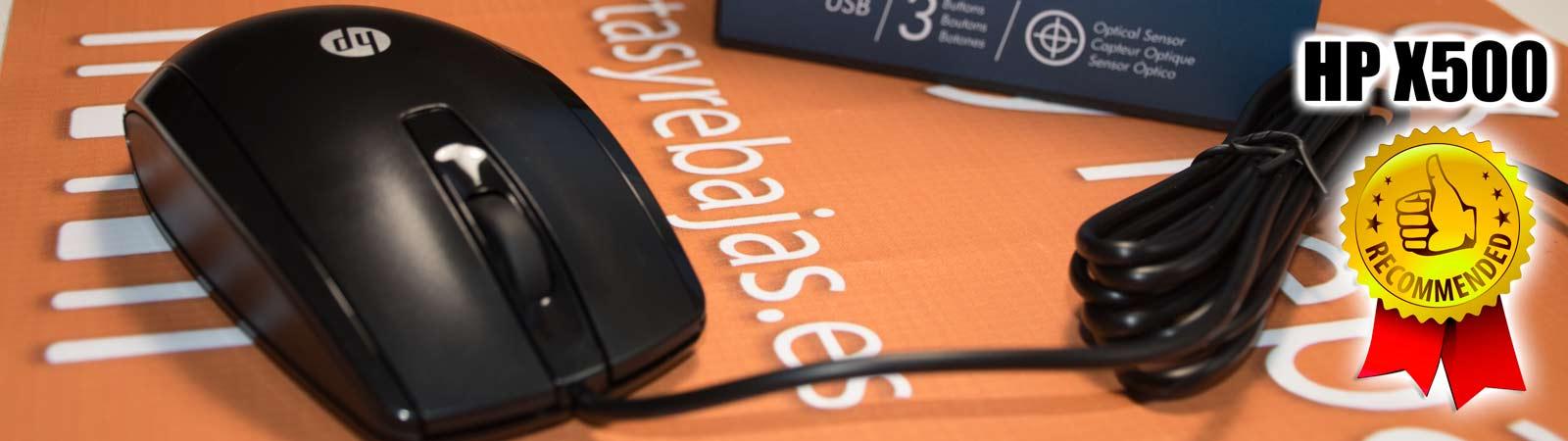 Ratón óptico HP X500