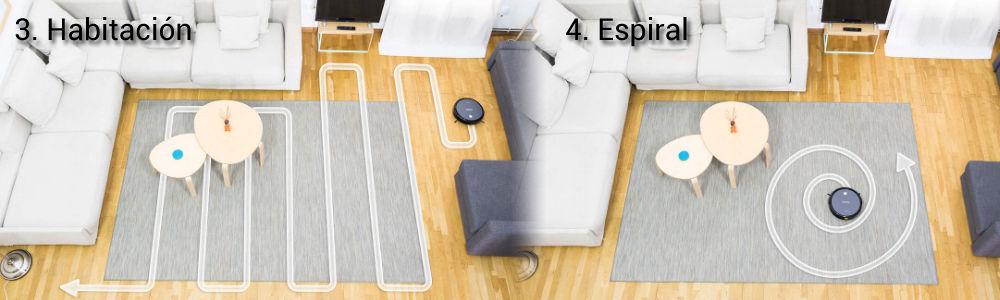 Modos-de-limpieza-del-robot-aspirador-Conga-Excellence-990