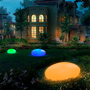 Luces led estilo piedra 16 Colores