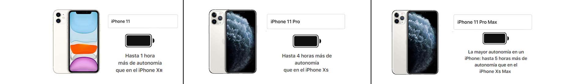 Diferencias baterías iphone 11