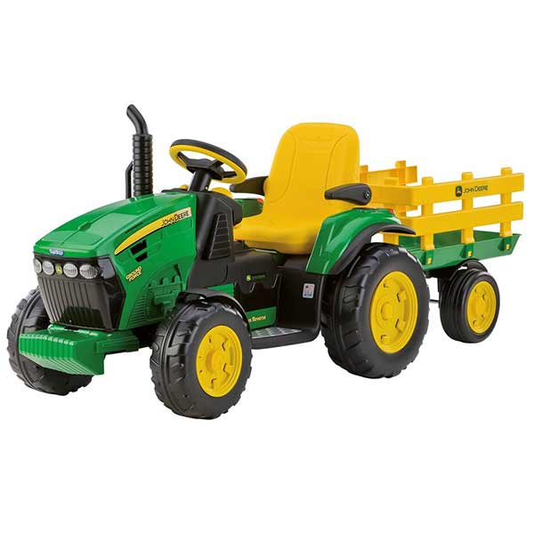 Electric tractor with trailer