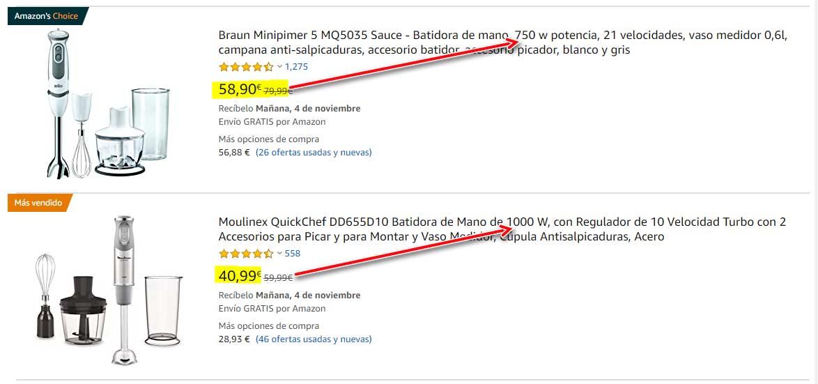 Comprar batidoras de mano en Amazon