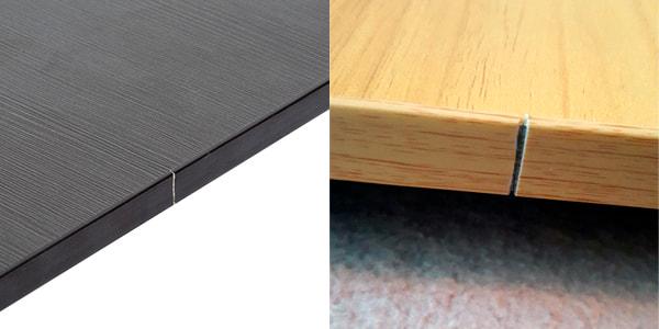 Ranura en el costado de la mesa plegable